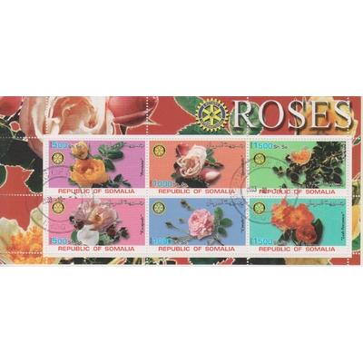 Somalie - Roses - Feuillet de 2001