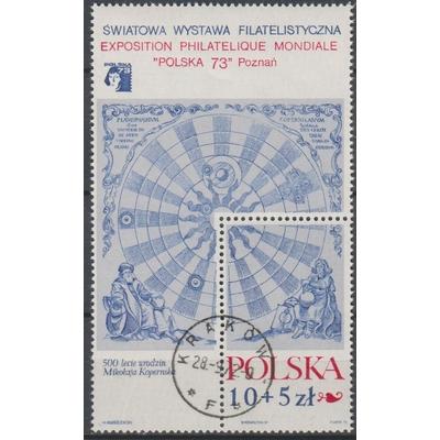 Pologne - Copernic - yt.BF58 oblitéré - Cote €2,30