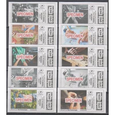 France - Mon timbre à moi - Specimen - 10 valeurs neuves **