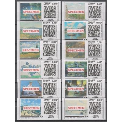 France - Mon timbre à moi - Specimen - 12 valeurs neuves **