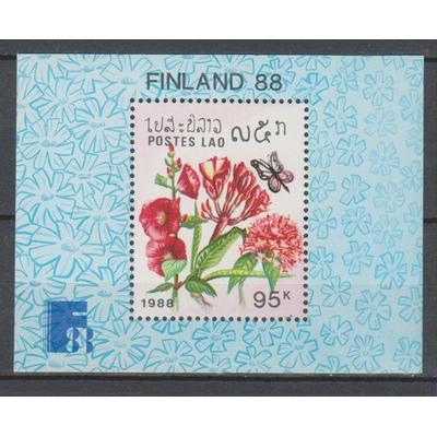 Laos - Fleurs et papillons - yt.BF101 neuf ** - Cote €3.75