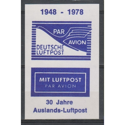 Allemagne - Aviation - Feuillet souvenir neuf ** de 1978
