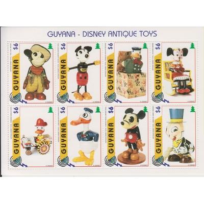 Guyane - Disney / Mickey - Feuillet de 8 valeurs neuves **