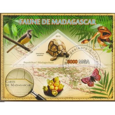 Madagascar - Tortues - Feuillet de 2013