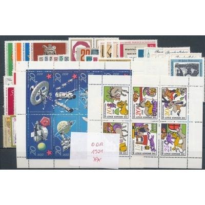 Allemagne orientale - Collection complète de l'année 1971 neuve ** - Cote €69