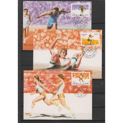 Brésil - Jeux olympiques - 3 cartes maximums différentes de 1984