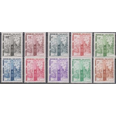 Madagascar - Timbres taxe - yt.T41/50 neufs ** - Cote €5