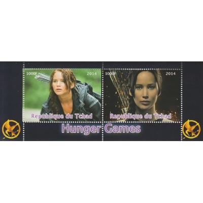 Tchad - Hunger Games - Feuillet de 2014