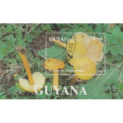Guyane - Champignons - Feuillet de 1993