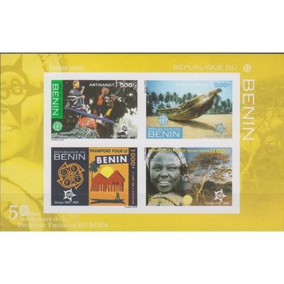 Bénin - 50 ans Europa - Feuillet neuf ** de 2005 non dentelé