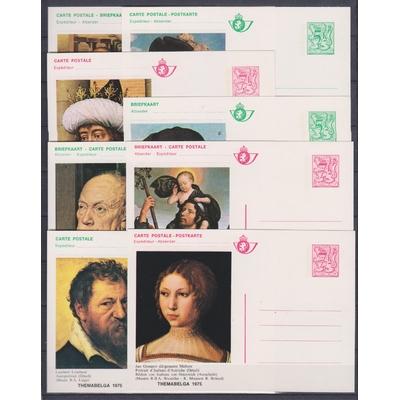 Belgique - 8 cartes entier-postal différentes - Peintures