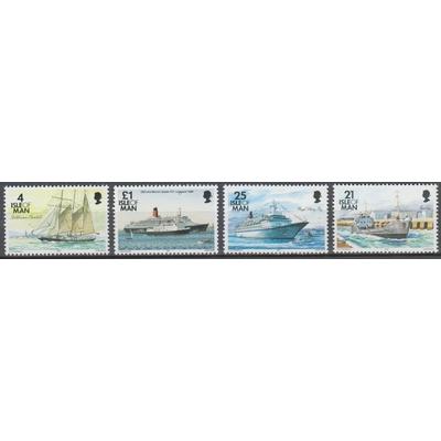 Ile de Man - Bateaux - yt.784/86+771A neufs ** - Cote €6.50