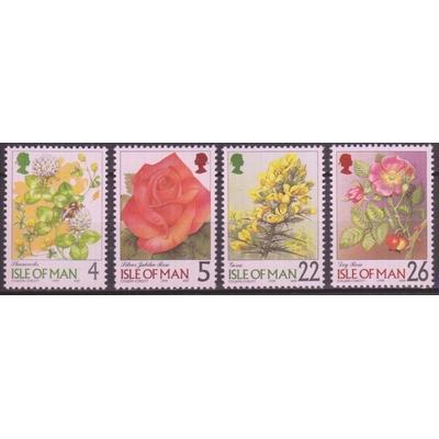 Ile de Man - Fleurs - yt.846/49 neufs ** - Cote €2.50
