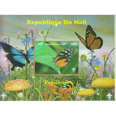 Mali - Papillons - Feuillet de 2010