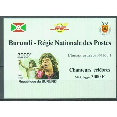 Burundi - Rolling Stones - Feuillet neuf ** de 2011