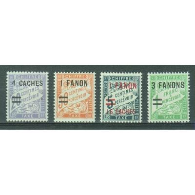 Inde Française - Taxe - yt.8/11 neufs * - Cote €13.20