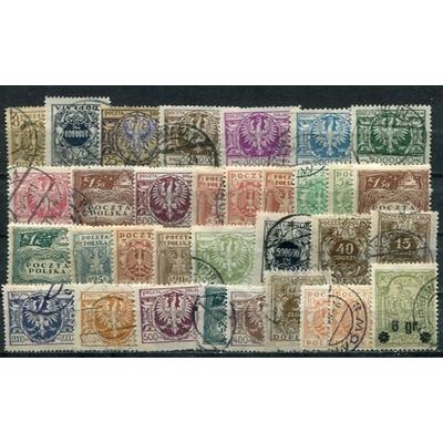 Pologne - Collection de timbres anciens (2 photos)