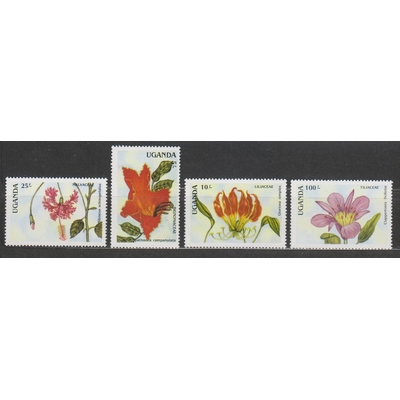 Ouganda - Fleurs - yt.506/09 neufs ** - Cote €6