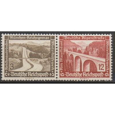 Allemagne - Architecture - Se-tenant - 2 valeurs neuves sans gomme