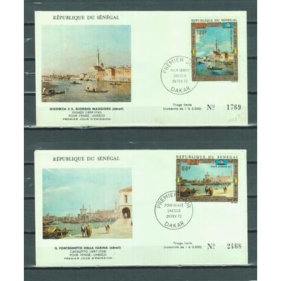 Sénégal - Pour Venise - FDC numérotés de 1972
