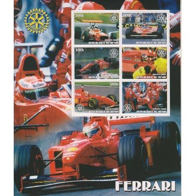 Bénin - Ferrari - Feuillet neuf ** de 2003