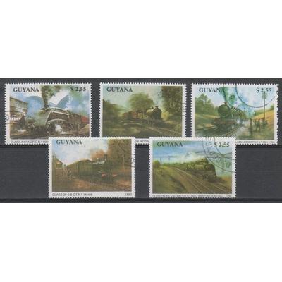 Guyane - Trains - Série oblitérée de 1990
