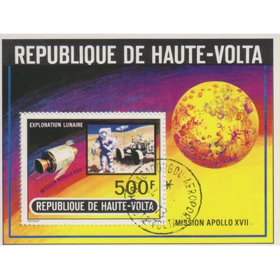 Haute-Volta - Espace - Feuillet oblitéré