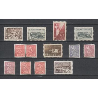 Finlande - Sélection de timbres neufs ** - Cote €80