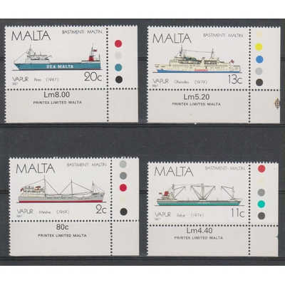 Malte - Navires - yt.756/59 neufs ** - Cote €12.50