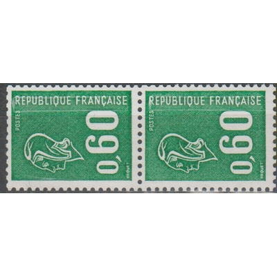France - Béquet - yt.1815b se-tenant avec numéro rouge neuf ** - Cote €25