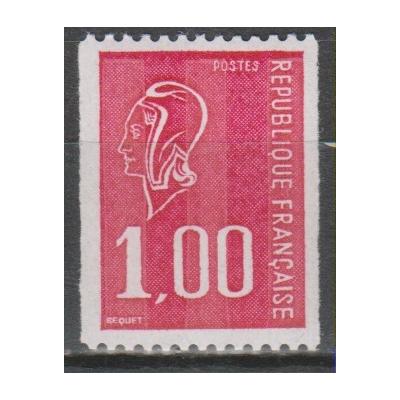 France - Béquet - yt.1895a numéro rouge neuf ** - cote €3