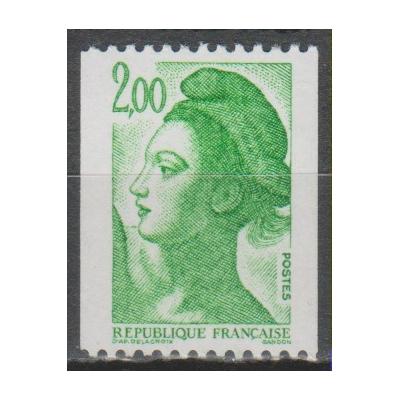France - Liberté - yt.2426c numéro rouge neuf ** - Cote €7