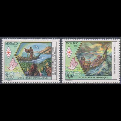 Monaco - Croix Rouge - yt.1797/98 neufs ** - Cote €5.50