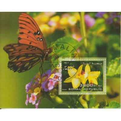 Somalie - Papillons / Orchidées - Feuillet de 2006