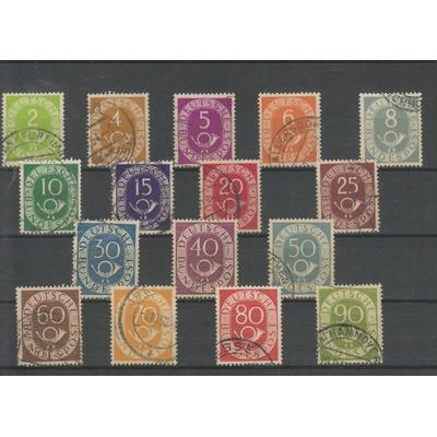 Allemagne - Série complète Cor postal - Yvert 9/24 - Cote €50