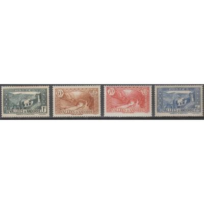 Andorre - Sélection de valeurs de 1932-37 neuves ** - Cote €15