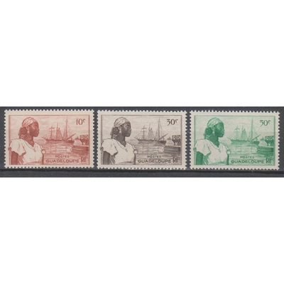 Guadeloupe - Timbres neufs ** - yt.197/99 - Cote €0.85