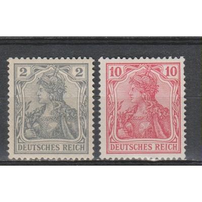 Allemagne - Yvert 51 et 54 neuf * de 1900 - Cote €4