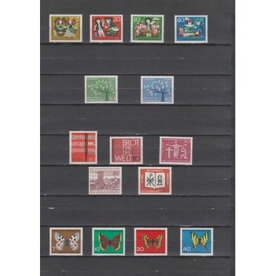 Allemagne - Collection complète de l'année 1962 neuve ** - Cote €9