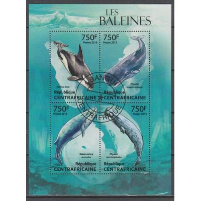 Centrafricaine - Baleine - Feuillet de 2013