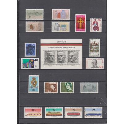 Allemagne - Collection complète de l'année 1975 neuve ** (2 photos) - cote €70