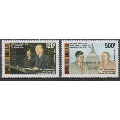 Togo - Adenauer - yt.A637/38 neuf ** - Cote €6
