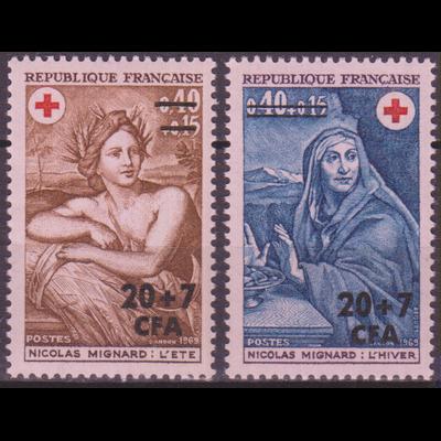 Réunion - Croix Rouge - yt.388/89 neufs ** - Cote €3.40