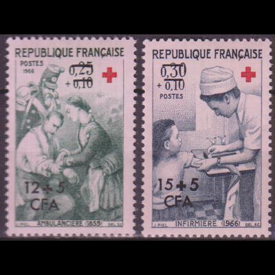 Réunion - Croix Rouge - yt.370/71 neufs ** - Cote €3.60
