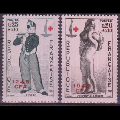 Réunion - Croix Rouge - yt.357/58 neufs ** - Cote €7.40