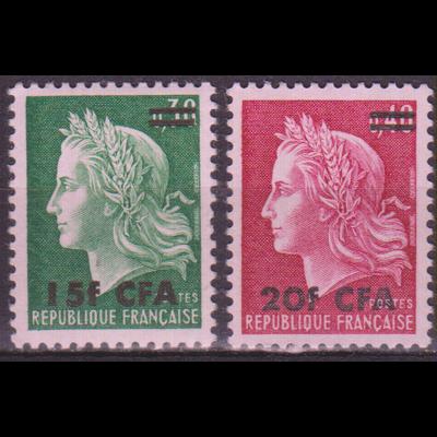 Réunion - Cheffer - yt.384/85 neuf ** - Cote €1.50