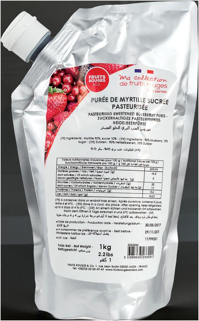 Purée de Fruits (Myrtilles)