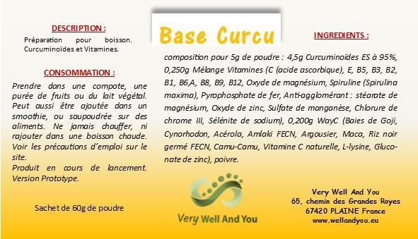 étiquette Base Curcu