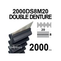 Courroie tondeuse 2000DS8M20 Double denture. 20 mm x 2000 mm.
