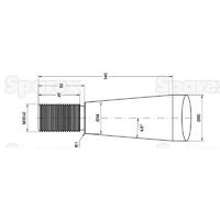 21-789  Dent de fourche   Droite 1,010mm, Filetage: M30 x 2.0